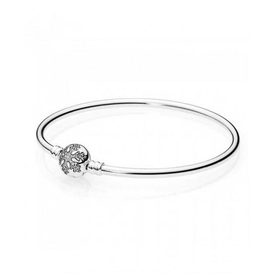 Pandora Bangle-Unique Snowflake Jewelry