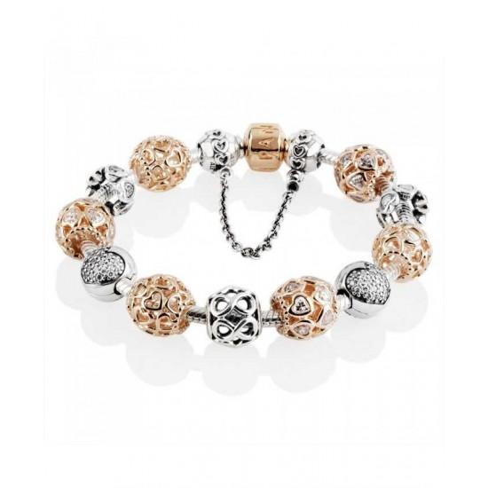 Pandora Bracelet-Rose Sweetheart Complete Jewelry