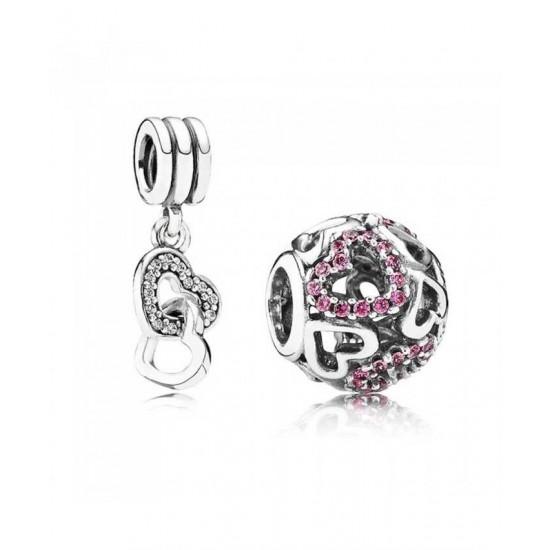 Pandora Charm-Sparkling Heart Jewelry Best Cheap