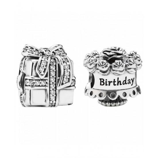 Pandora Charm-Silver Birthday Surprises Best Prints Images