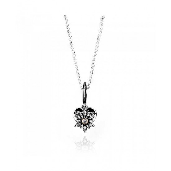 Pandora Necklace-Snowflake Heart Complete Jewelry