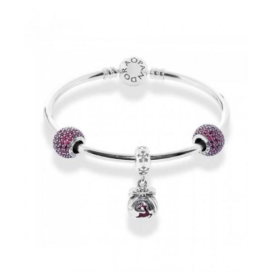 Pandora Bangle-Advertised Sparkling Reindeer Complete Jewelry