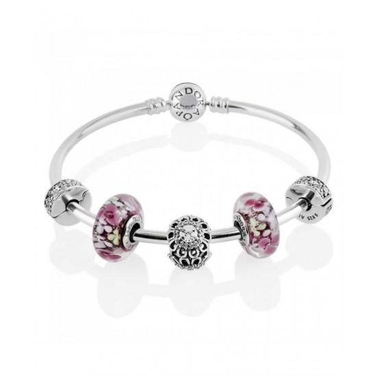 Pandora Bangle-Flower Garden Complete Jewelry