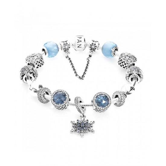 Pandora Bracelet-Advertised Crystallised Flurry Complete Jewelry