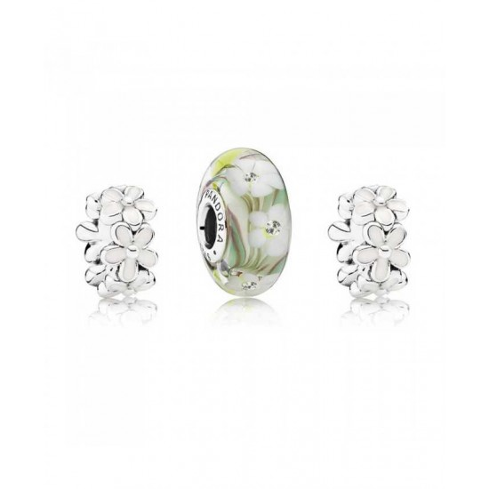 Pandora Charm-Forever Floral Jewelry