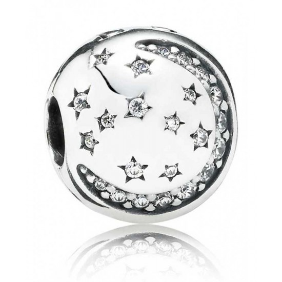 Pandora Clip-Silver Twinkling Night Jewelry Factory Store