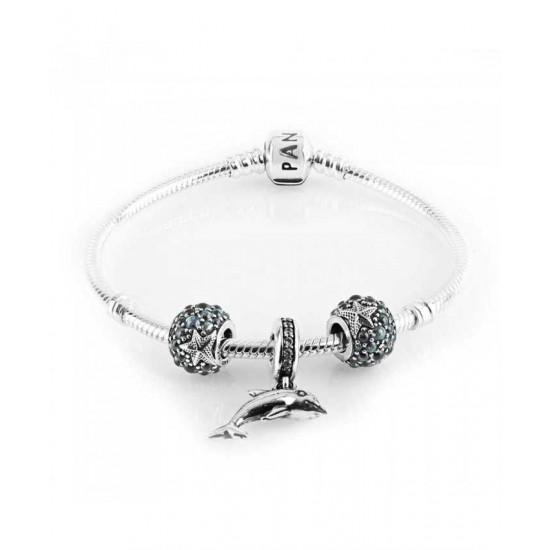 Pandora Bracelet-Playful Dolphin Complete Jewelry
