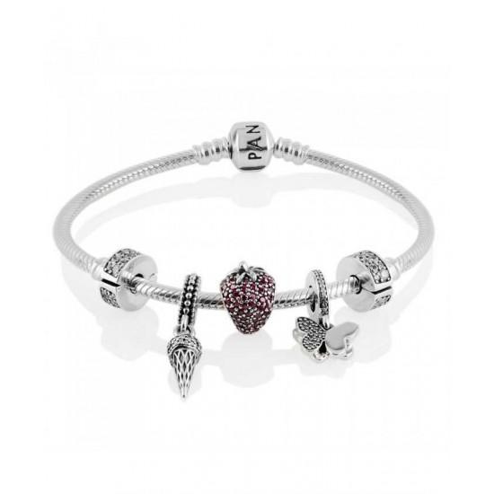 Pandora Bracelet-Summer Strawberry Complete Jewelry