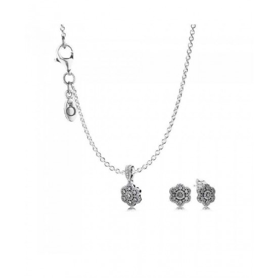 Pandora Jewellery Set-Crystallised Floral Jewelry