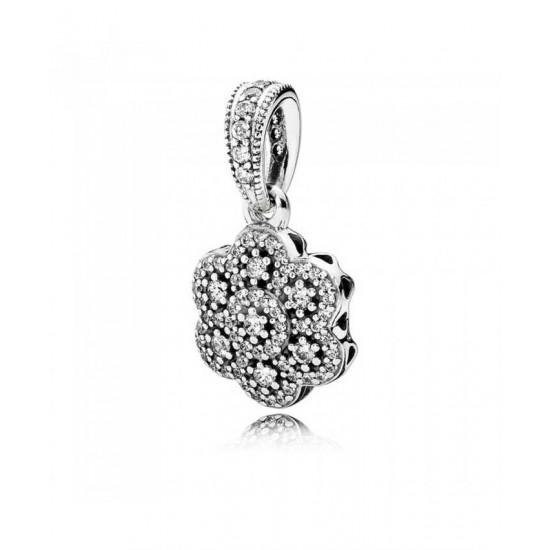 Pandora Pendant-Ice Floral Jewelry