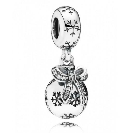 Pandora Charm-Silver Christmas Bauble Dropper Jewelry