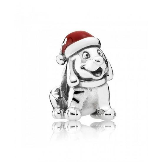 Pandora Charm-Silver Christmas Puppy Jewelry