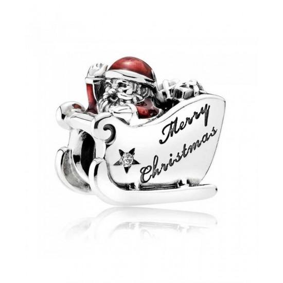 Pandora Charm-Sleighing Santa Jewelry