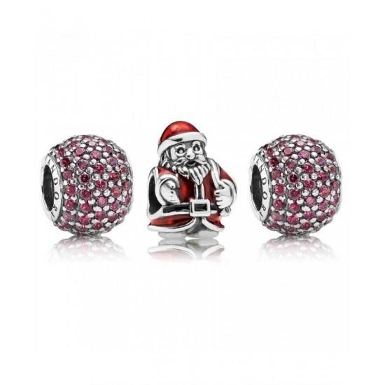 Pandora Charm-Sparkling Santa Jewelry