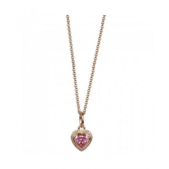 Pandora Necklace-Rose Pink Heart Jewelry
