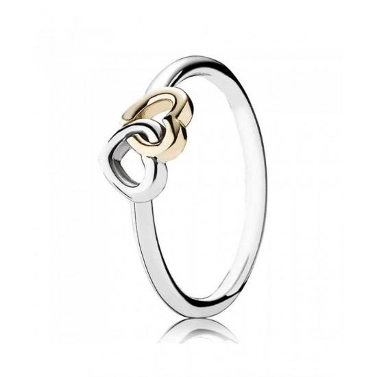 Pandora Ring-Silver 14ct Interlocked Hearts Jewelry