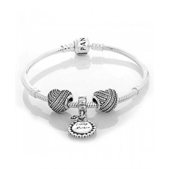 Discount Pandora Bracelet-Silver Love Lines Complete Jewelry