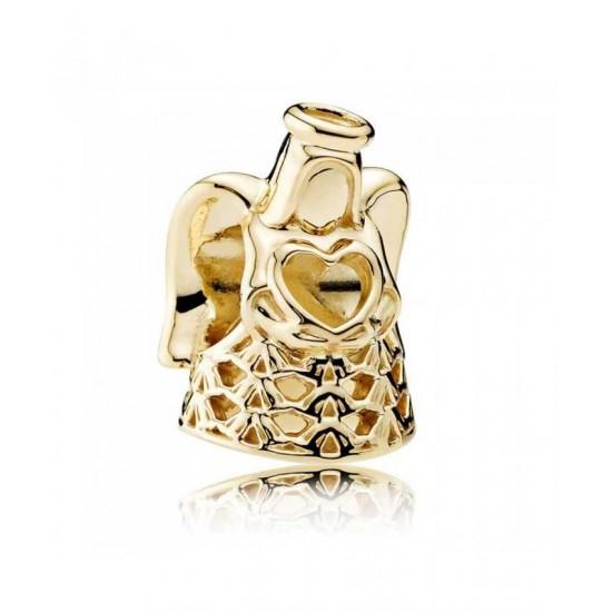 Pandora Charm-14ct Gold Golden Angel Jewelry