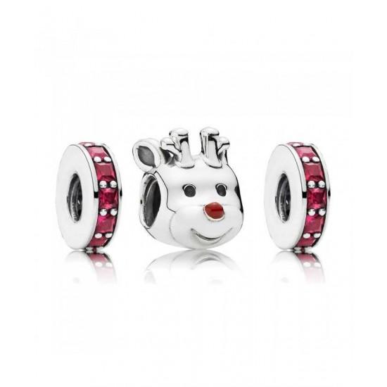 Pandora Charm-Red Nosed Reindeer Jewelry