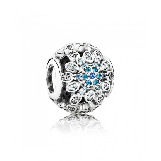 Pandora Charm-Silver Crystallised Snowflake Jewelry