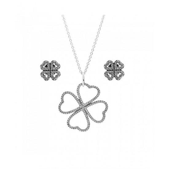 Pandora Jewellery Set-Silver Petals Of Love Jewelry