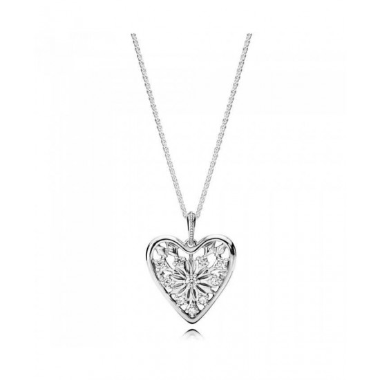 Pandora Necklace-Heart Of Winter Jewelry