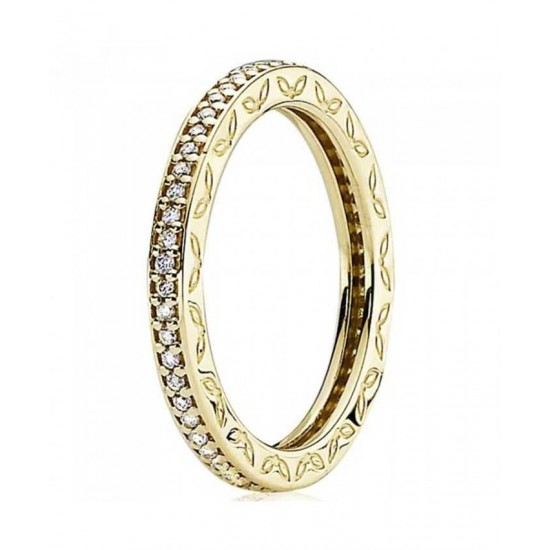 Pandora Ring-14ct Gold Diamond Eternity Jewelry