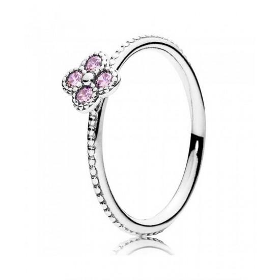 Pandora Ring-Oriental Blossom Pink Cubic Zirconia Jewelry