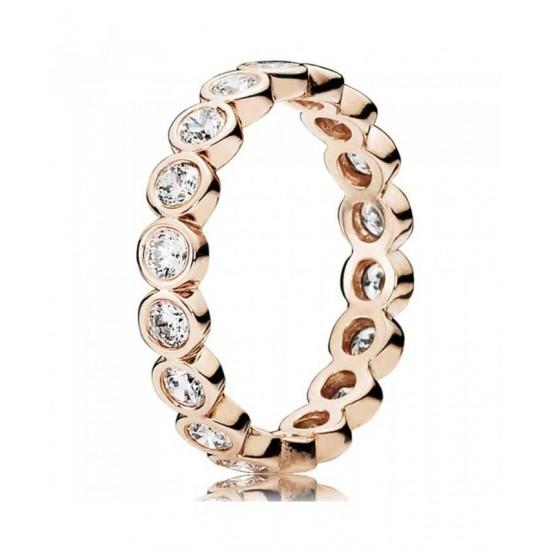 Pandora Ring-Rose Sparkling Cubic Zirconia Eternity Jewelry