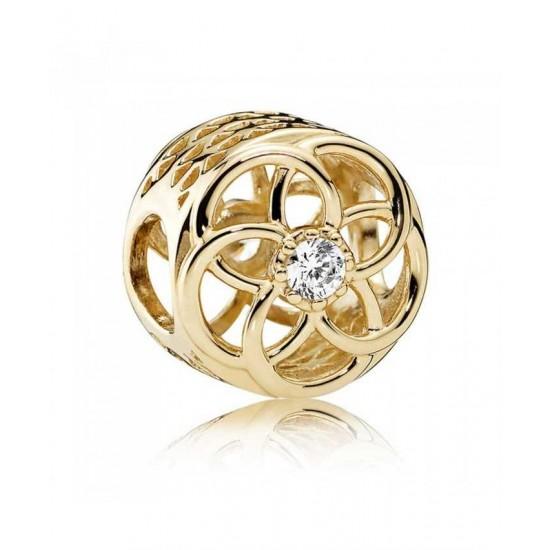 Pandora Charm-14ct Gold Loving Bloom Jewelry