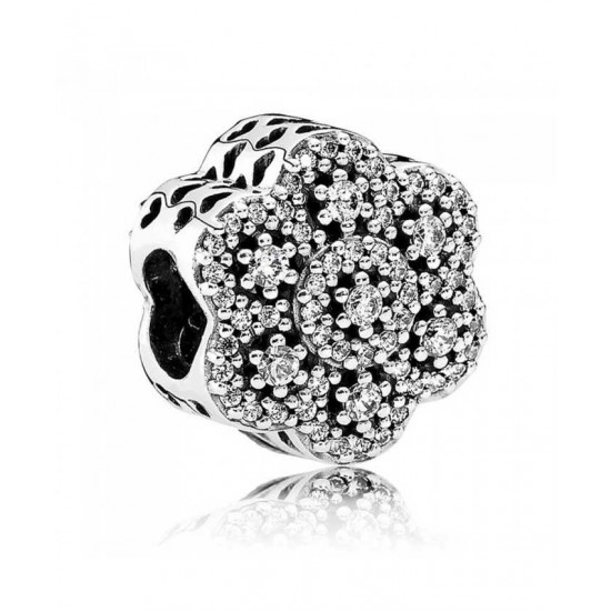 Pandora Charm-Ice Floral Jewelry