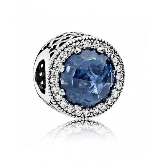 Pandora Charm-Midnight Blue Radiant Hearts Jewelry