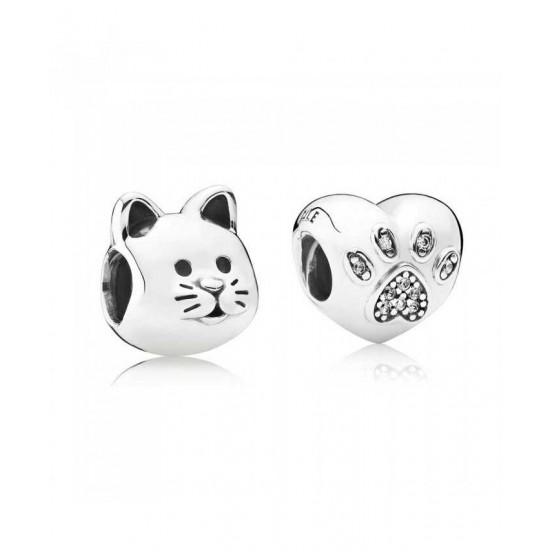 Pandora Charm-Silver I Love My Cat Jewelry Discount Online