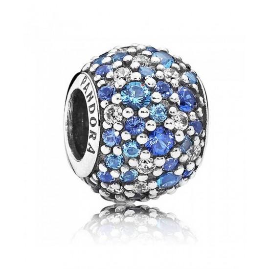 Pandora Charm-Silver Sky Mosaic Blue Cubic Zirconia Jewelry