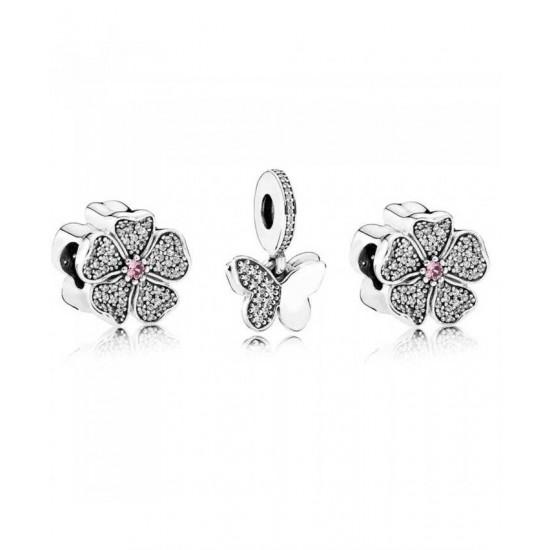 Pandora Charm-Butterfly Blossom Jewelry