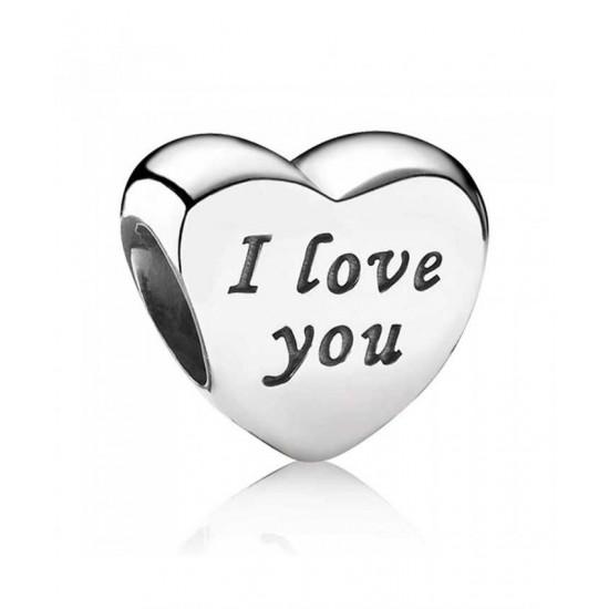 Pandora Charm-Silver I Love You Hearts Jewelry