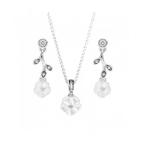 Pandora Jewellery Set-Luminous Floral Jewelry