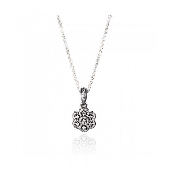 Pandora Necklace-Ice Floral Complete Jewelry