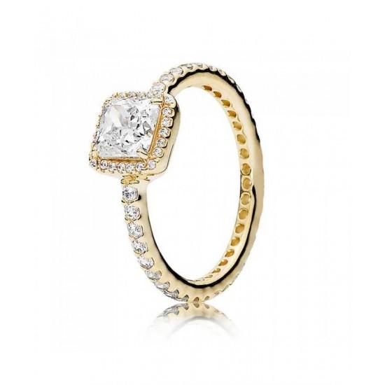 Pandora Ring-14ct Gold Timeless Elegance Jewelry