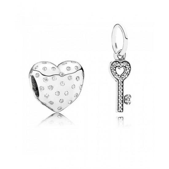 Pandora Charm-Key To My Heart Jewelry