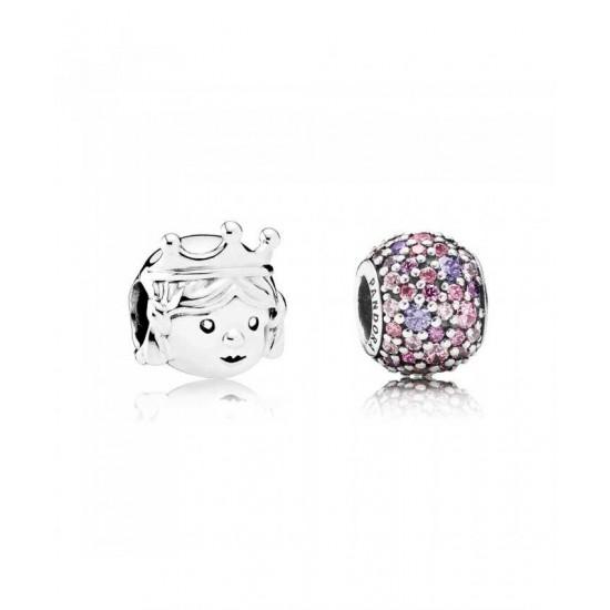 Pandora Charm-Pave Princess Jewelry