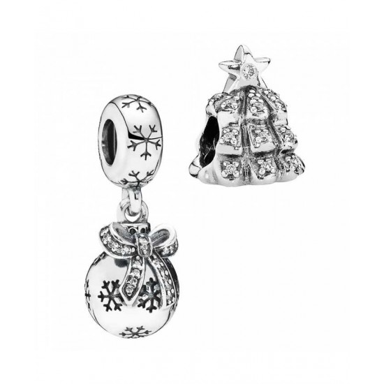Pandora Charm-Silver Christmas Decorations Jewelry