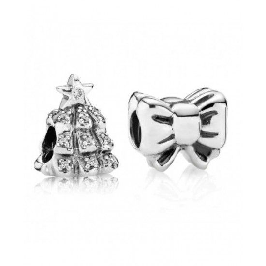 Pandora Charm-Top Of The Christmas Tree Jewelry Factory Online
