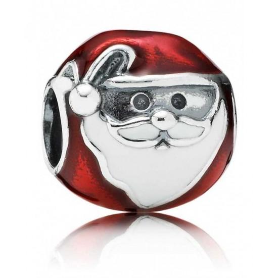 Pandora Christmas-Silver Enamel Jolly Father Jewelry