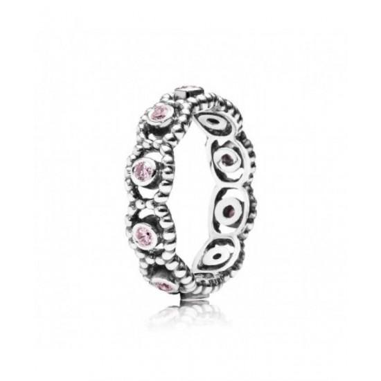 Pandora Ring-Silver Pink Cz Romance Jewelry