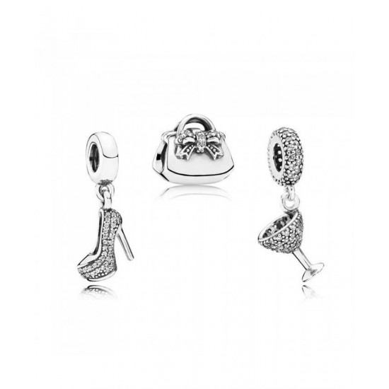 Pandora Charm-Silver Girls Night Jewelry