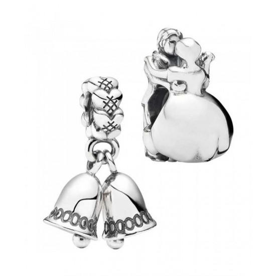 Pandora Charm-Silver Wedding Bells Jewelry