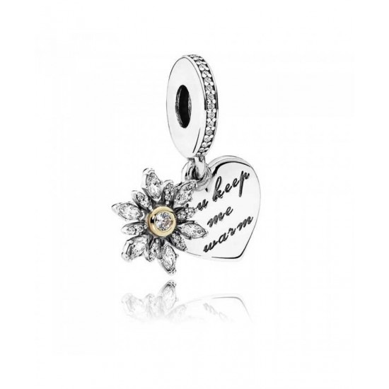 Pandora Charm-Silver 14ct Gold Snowflake Heart Jewelry