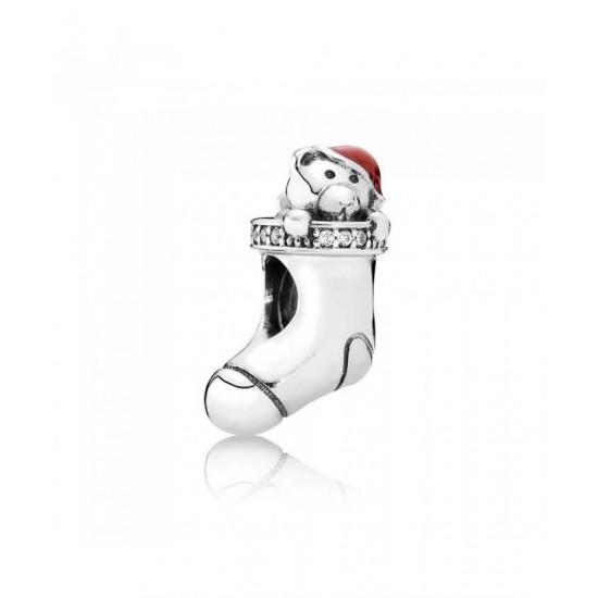 Pandora Charm-Silver Christmas Stocking Jewelry