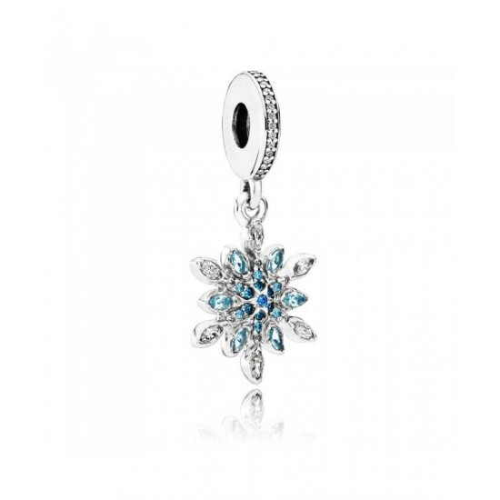 Pandora Charm-Silver Crystallised Snowflake Dropper Jewelry